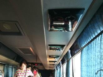 巴士内还备有空调