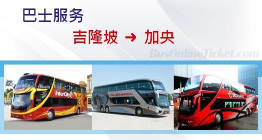 从吉隆坡到加央的巴士服务