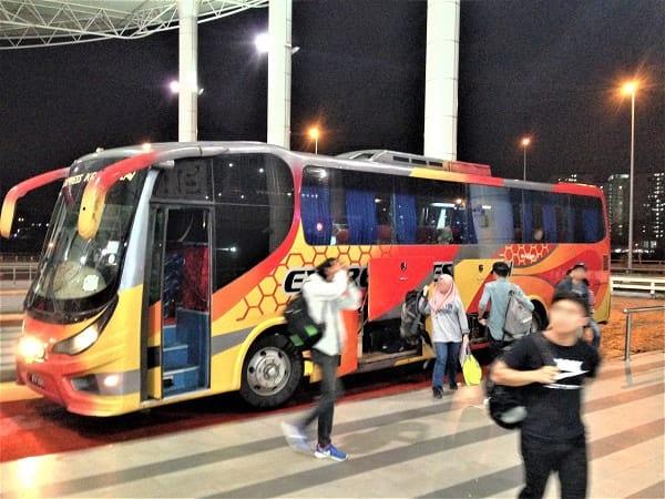 抵达南湖镇交通综合站 - 从红土坎通往吉隆坡的巴士服务