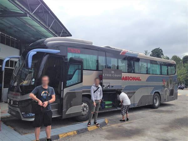 从吉隆坡前往红土坎的巴士