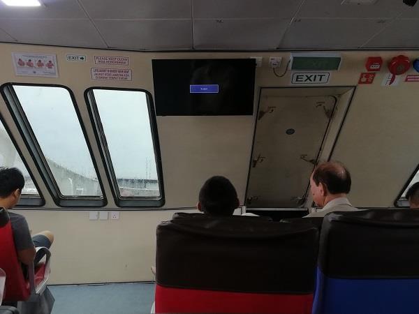 渡船内的电视机