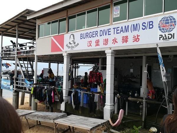 在刁曼岛芭雅海滩的潜水服务