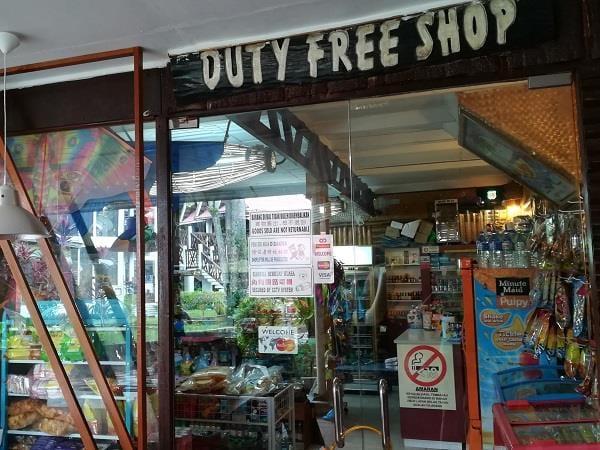 芭雅海滩度假村内的免税店